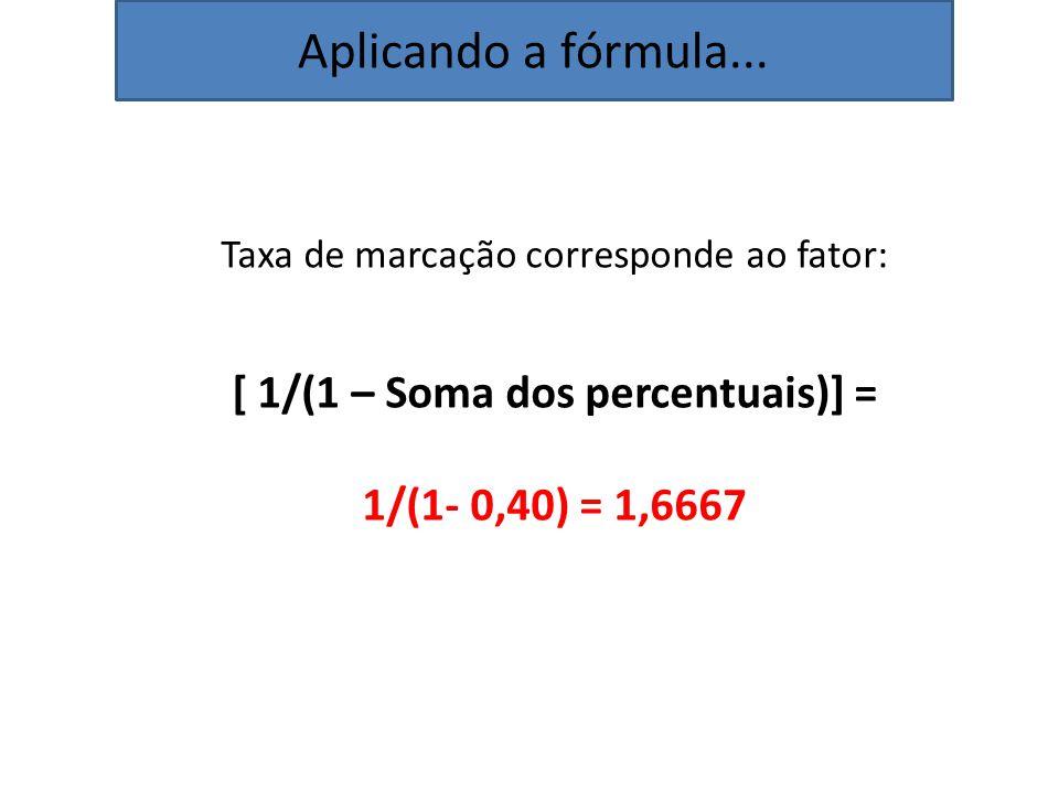 [ 1/(1 – Soma dos percentuais)] =